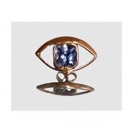 OEIL D'OREILLE  GYPSY TANZANITE - GYPSY EYE EARRING TANZANITE