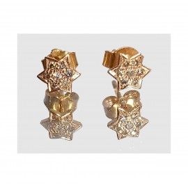 PUCES D'OREILLES PERSANE OR ROSE - PERSANE PINK GOLD EARRINGS