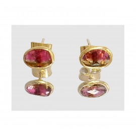 PUCES D'OREILLES MAHARANI TOURMALINE - MAHARANI TOURMALINE EARRINGS